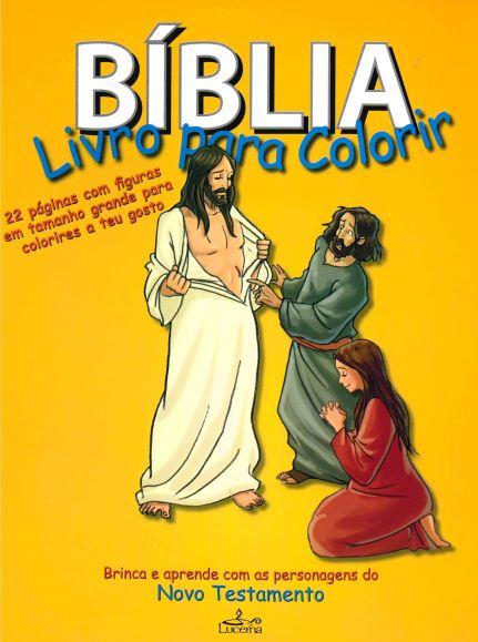 Livro para colorir sobre a Biblia